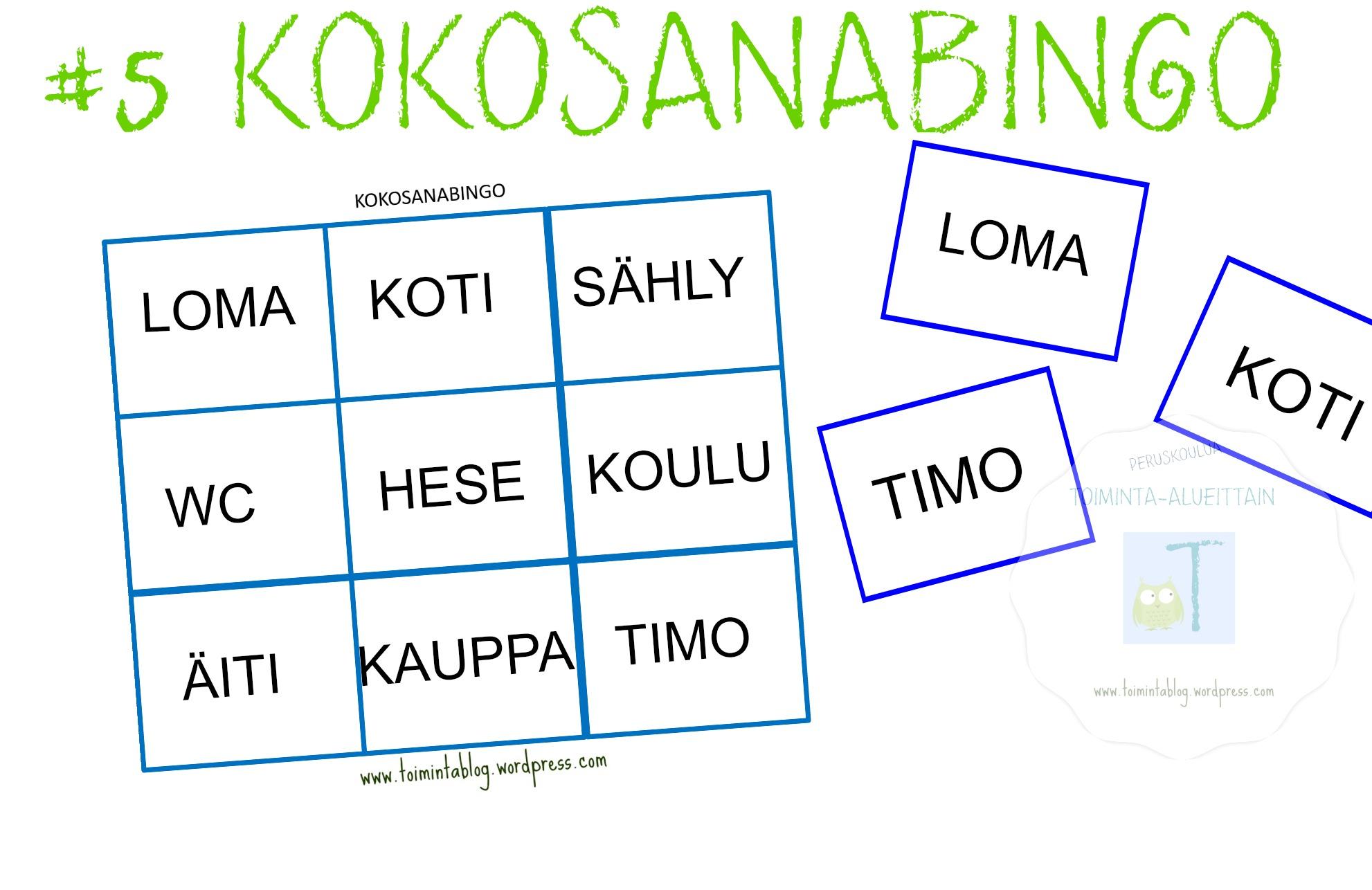 5 kokosanabingo otsikko